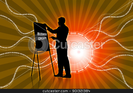 Business lecture  stock photo, 	profit of successful business man teaching  by dileep