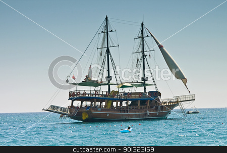 Tourist Ship stock photo, A