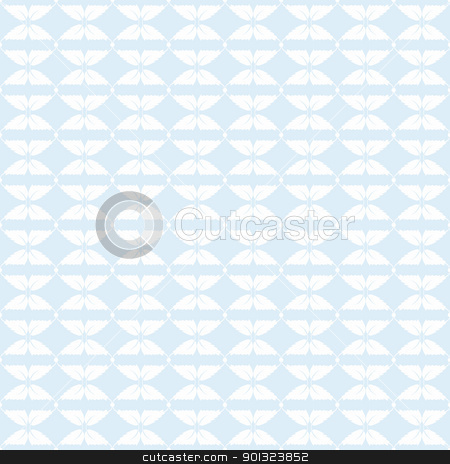 Seamless leaves pattern stock vector clipart, Abstract background of beautiful seamless leaves pattern by Ingvar Bjork