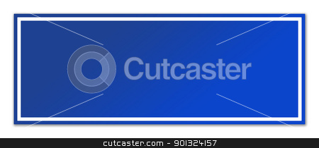 Blank blue street sign stock photo, Blank blue street sign isolated on white background with copy space. by Martin Crowdy