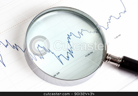 Stock market stock photo, Analyzing the stock market by Ingvar Bjork