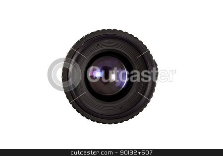 Lens stock photo, Lens isolated on white by Ingvar Bjork