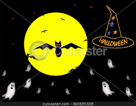 Halloween  stock vector clipart, Halloween sky by elaplan