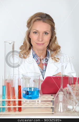 Woman working in a laboratory stock photo, Woman working in a laboratory by photography33