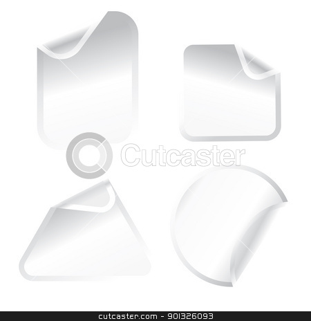 white stickers stock photo, white stickers - vector illustration by ojal_2