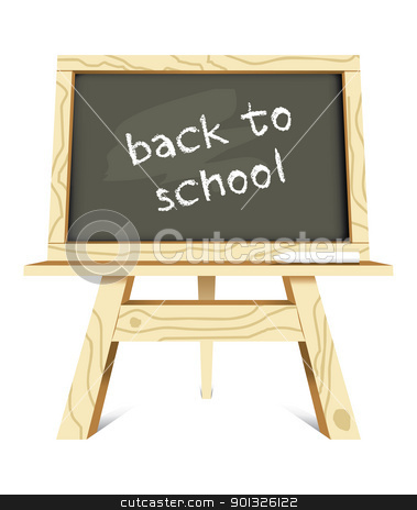 blackboard with back to school message stock photo, blackboard with back to school message - vector illustration by Ilyes Laszlo