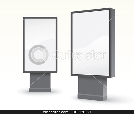 outdoor advertising citylight stock photo, outdoor advertising citylight - vector illustration by ojal_2