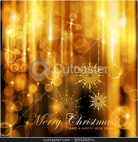 Sparkling lights Christmas Card stock vector clipart, Cascades of lights with defocused lights and highlights background for your Christmas card. by Ina Wendrock
