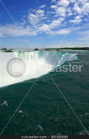 Niagara Falls stock photo, An image of Niagara Falls from the Canadian side.  by © Ron Sumners
