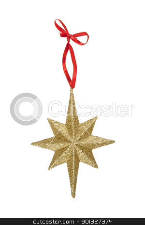 Star Christmas Ornament stock photo, Star Christmas Ornament, isolated w/clipping path by Bryan Mullennix