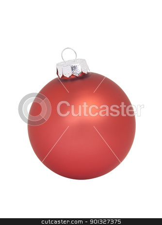 Red Christmas Ornament stock photo, Red Christmas Ornament, isolated w/clipping path by Bryan Mullennix