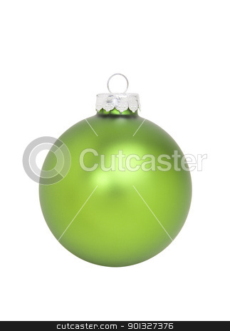 Green Christmas Ornament stock photo, Green Christmas Ornament, isolated w/clipping path by Bryan Mullennix