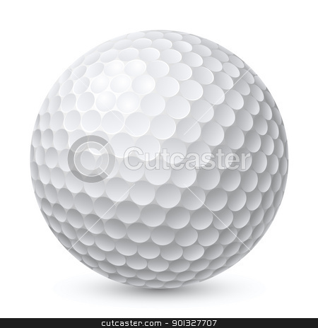 Golf Ball stock photo, Golf Ball. Illustration on white background for design by dvarg