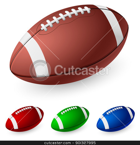 Realistic American football stock photo, Realistic American football. Illustration on white background.  by dvarg