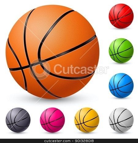 Basketball stock photo, Basketball. Illustration on white background for design. by dvarg