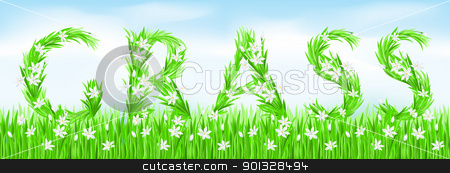 Eco-Style Grass Letters. stock photo, Eco-Style Grass Letters. Grass. Vector version letters is in my gallery. by dvarg