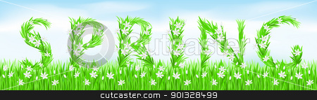 Eco-Style Grass Letters. stock photo, Eco-Style Grass Letters. Spring. Vector version letters is in my gallery. by dvarg