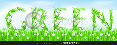 Eco-Style Grass Letters. stock photo, Eco-Style Grass Letters. Green. Vector version letters is in my gallery. by dvarg