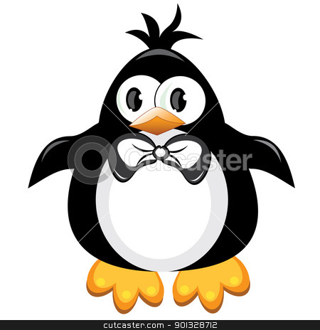 Penguin cartoon bird. Boy. stock photo, Penguin cartoon bird. Boy. Illustration on white by dvarg