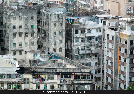 old building in downtown stock photo, old building in downtown by Keng po Leung