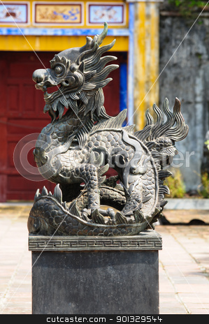 Stone lion, vietnam stock photo, Stone lion, vietnam by kowit sitthi