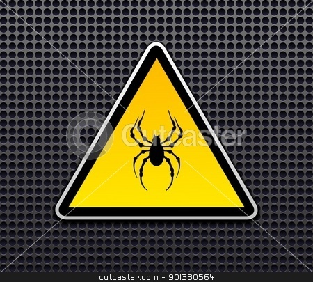 Spider stock vector clipart, Venomous spiders sign vector by Mikhail Puhachou