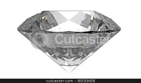 Diamond stock photo, diamond gemstone isolated on white by Borislav Marinic
