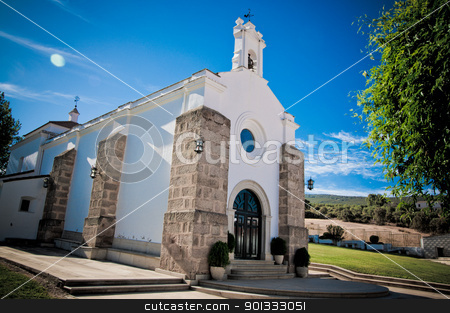 Contryside Church stock photo, Contryside Church in Extremadura, Spain by dirimir