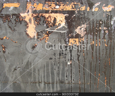 grunge orange gray metal with leak drip                          stock photo, grunge orange gray metal with leak drip                                by johnjohnson