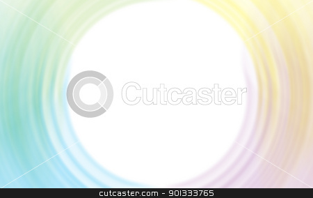 Color circular streaks as the background stock photo, Rainbow circular streaks with white center as background