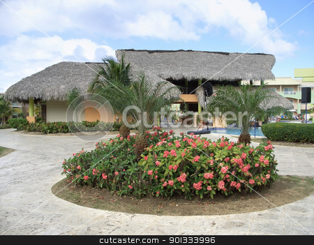 holiday resort at Dominican Republic stock photo, holiday resort at the Dominican Republic, a island of Hispanola wich is a part of the Greater Antilles archipelago in the Carribean region by prill