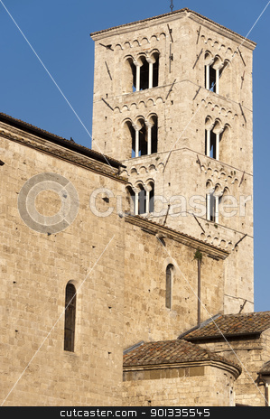 Anagni (Frosinone, Lazio, Italy) - Medieval cathedral stock photo, Anagni (Frosinone, Lazio, Italy) - Medieval cathedral by clodio