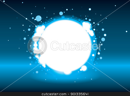 Ice hole stock vector clipart, Blue and black modern magic ice hole with copy space by Michael Travers