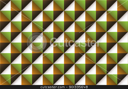 Diamond abstract retro stock vector clipart, Green brown and orange abstract wallpaper background by Michael Travers