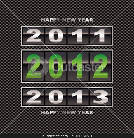 2012 carbon fiber green stock vector clipart, Changing from 2011 to 2012 new year date on carbon fiber background by Michael Travers