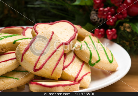 Decorated cookies in festive setting stock photo, Decorated cookies in festive setting with decoration by Ulrich Schade