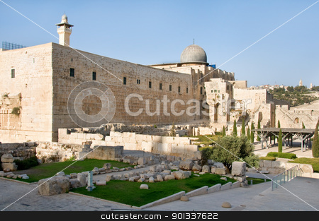 Mosque Al-Aqsa stock photo, A view of Mosque Al-Aqsa in Jerusalem by Iryna Rasko