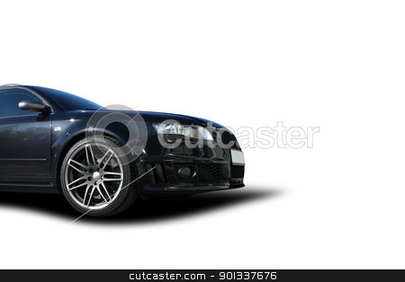 Black car stock photo, black sports car on a colorful background by Viktor Thaut