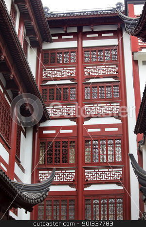 Old Shanghai Builings Yuyuan Garden China stock photo, Old Shanghai Houses Yuyuan Garden China by William Perry