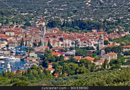 Mediterannean town of Cres, Croatia stock photo, Old mediterannean town of Cres, Croatia, Island of cres, with traditional dalmatian architecture by xbrchx