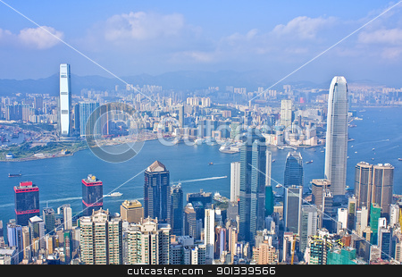 hongkong stock photo, hongkong at day by Keng po Leung