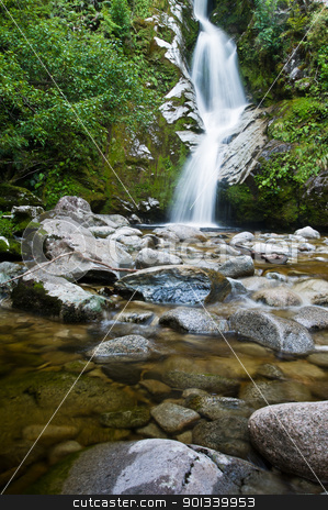 Dorothy Falls, Lake Kaniere stock photo, Dorothy Falls, Lake Kaniere, South Island, New Zealand by Ulrich Schade