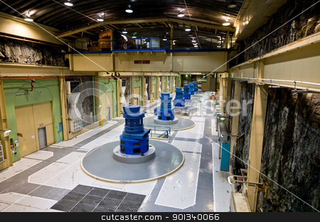 Manapouri Hydroelectric Power Station stock photo, Manapouri Hydroelectric Power Station, New Zealand by Ulrich Schade