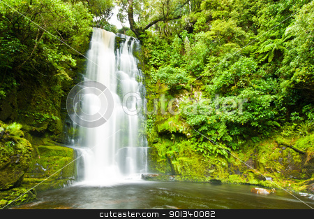 Mac Lean Falls in the Catlins stock photo, Mac Lean Falls in the Catlins of South New Zealand by Ulrich Schade