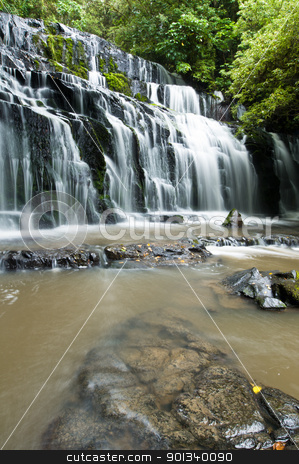 Purakanui Falls Catlins District South Otago stock photo, Purakanui Falls Catlins District South Otago South Island New Zealand by Ulrich Schade