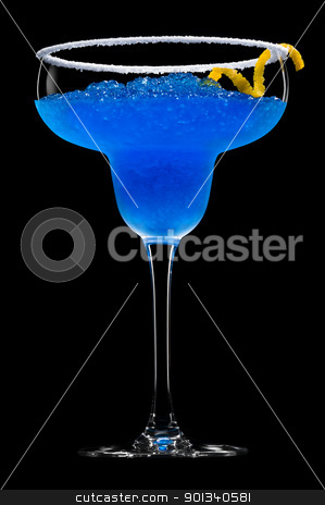 Cobalt Margarita stock photo, Cobalt Margarita over black background by Ulrich Schade