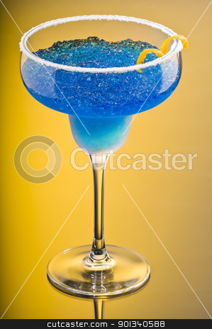 Cobalt Margarita stock photo, Cobalt Margarita over yellow background by Ulrich Schade