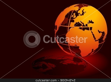 Orange Globe  stock photo, Orange Globe - colored background illustration by derocz