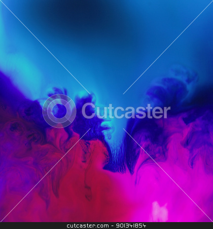 morphing particle transformation stock photo, spacy abstract background with translucent vibrant colors and salt particles over transmitted light by prill
