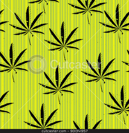 Weeds stock vector clipart, Weeds, seamless background of, grunge art graphic by Richard Laschon